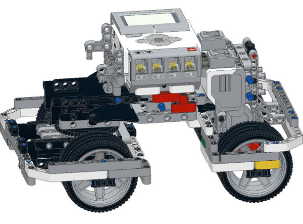 Big Daddy Competition Robot with two Rear Motors